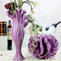 Custom high glossy modern decorative resin vase
