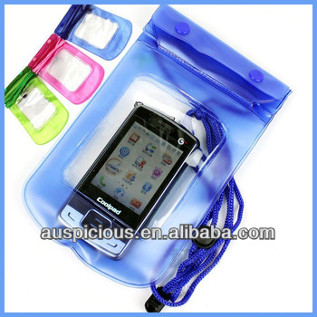pvc waterproof bags for mobile phone Camera and pad
