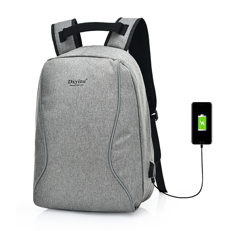 USB Battery Charging Laptop Softback Smart Design Multifunctional Canvas <strong>Backpack</strong>