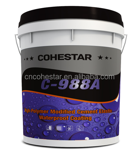 High Flexible Cementitious Waterproof Coating for Tiles