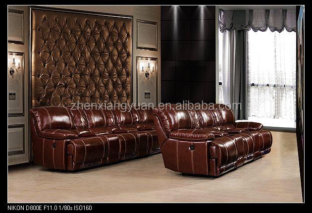 2016 salon meubles moderne apparence de luxe italien cuir home cin ma chaises - Salon de luxe italien ...