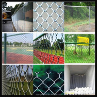 2016 High Quality Galvanized Chain Link Fence/PVC Coated Used Chain Link Fence For Sale