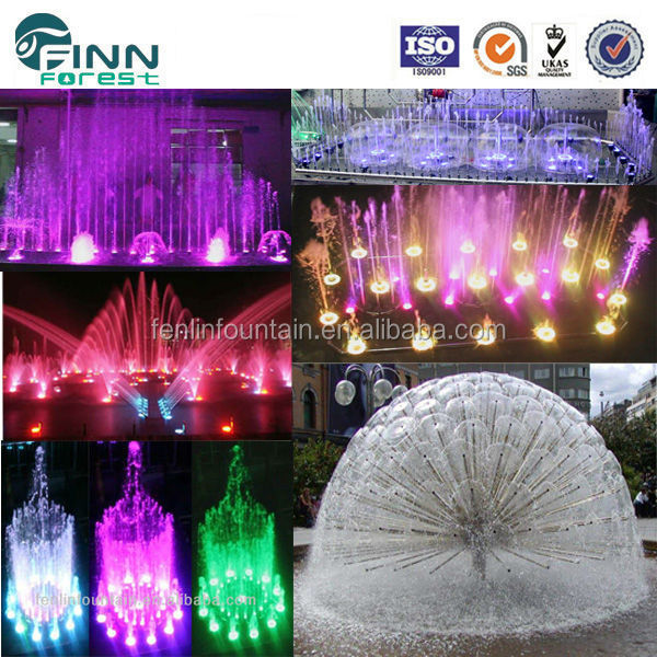 table water fountain with light