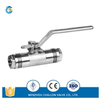 Durable 3pc mini ball cock valve high pressure