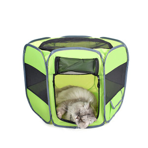 Hot Selling Puppy Pet Outdoor Dog Play Pen Camping Tent Cover Folding Playpen