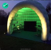 7x7x5meter new design commercial inflatable tent with led light for sale