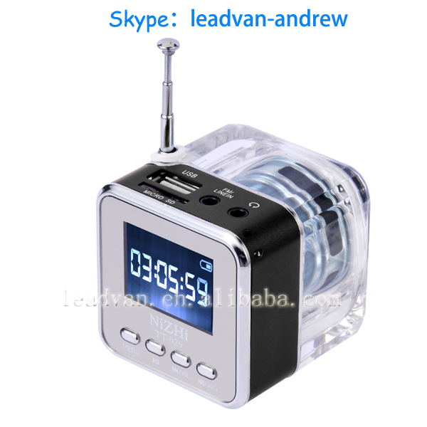 Multimedia Speaker Nizhi TT-029 Support SD/TF Card With Alarm Clock FM Radio And LCD Screen Synchronous lyrics