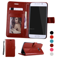 Book style business leather mobile phone cover case for Samsung galaxy S7 edge
