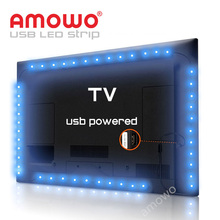Decoration DIY TV LCD Backlight LED Strip Remote For Clothes, Power Bank Powered 5V USB LED Strip