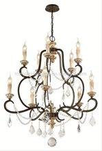 New design crystal chandeliermorden italian glass candles chandelier lights