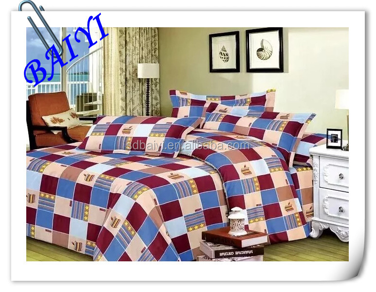 supply type and 100 polyester material textiles bed sheet bed cover