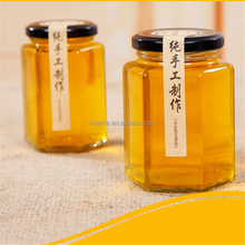 wholesale 45ML 85ML 100ML 180ML 280ML 380ML 730ML 250ml Hexagon glass honey /Jam / spice jar