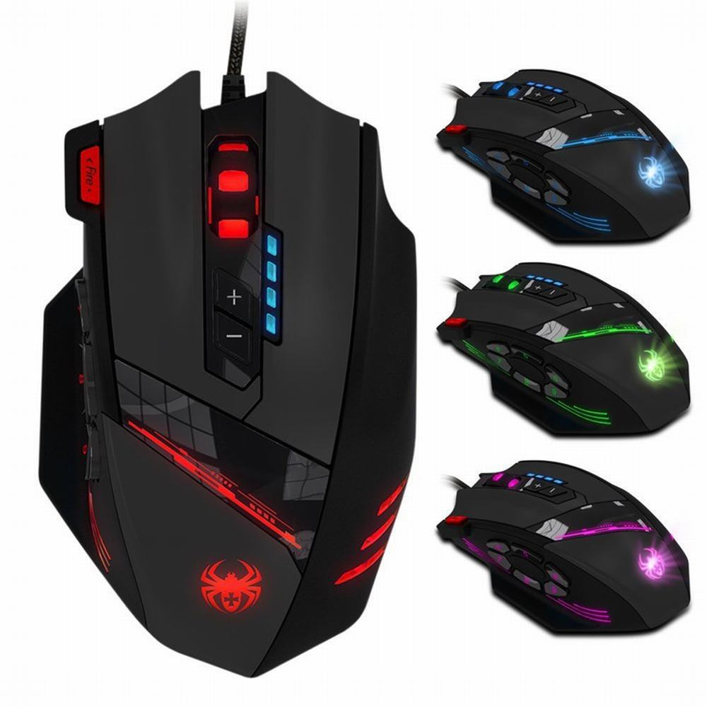 ZELOTES 12 Programmable Buttons LED Optical Professional High Precision USB Gaming Mouse Mice with gaming mouse