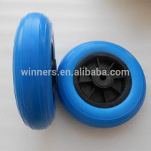 8 inch small plastic pu foam filled beach cart wheels