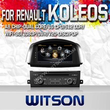 WITSON FOR RENAULT KOLEOS 2014 FACTORY PRICE CAR DVD WITH 1080P 1G DDR BLUETOOTH GPS WIFI 3G GPS