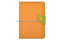 Korean Style Contrast Color PU Leather Tablet PC Case Cover for Samsung Note 8 N5100 and Ipad CO-LTC-311
