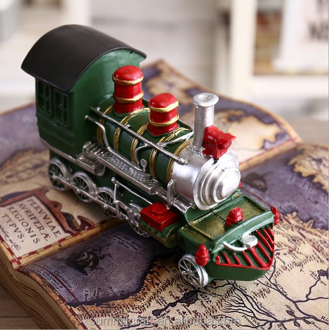 Custom Resin cartoon train money box