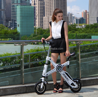 Popular Foldable Electric Bikes with LED lighting system and seat