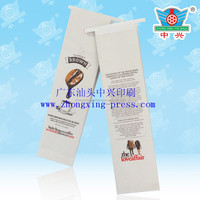 Customized printed side gusset coffee packing bag with valve and tin tie