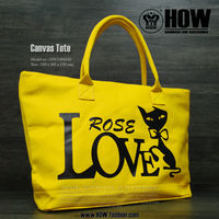 SS HOW Ladies High Quality Canvas Tote Bag in Yellow Color