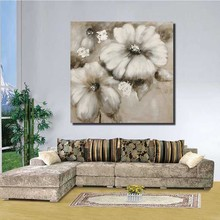 Yiwu Factory Direct Sale Framed Canvas art work Wholesale Flower paintings for hotel