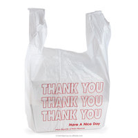 HDPE disposable transparent cheap large size garbage trash T-shirt bag