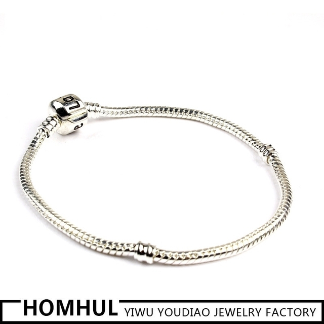 Fashion 925 sterling silver bracelet chain cheap wholesale charm bracelet snake chain