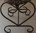 Iron Nailhead Square Plant Stand Antique Black