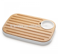 Beech wood uniform slices of bread with storage tray