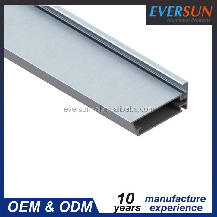 Anodized finish silver sandstone window frame