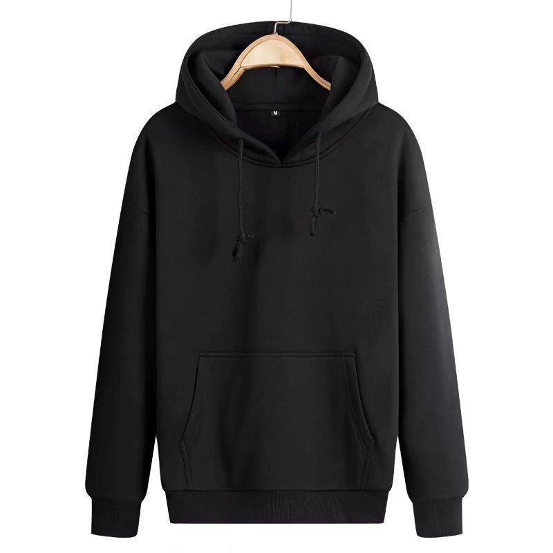 Fashion Heavy Hoodie 460g Polyester Fleece Pullover Plain Men Hoodie