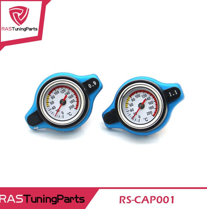 Spec Racing Thermost Radiator Cap With Water Temp gauge 0.9/1.1/1.3 BAR Cover