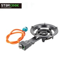 High Pressure Gas Stove Cast Iron Automatic Ignition Cooker