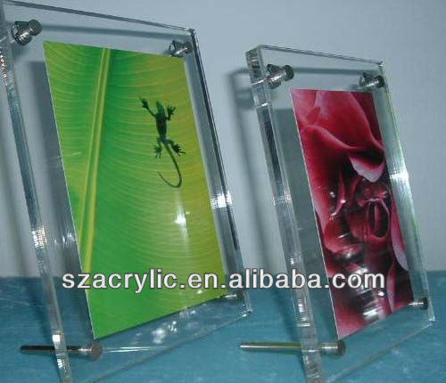 glasses stand back acrylic photo display frame