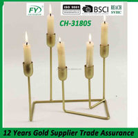 Five arm table and wedding decoration metal candle holder stand CH-31805