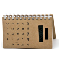 Notepad Organizer with Calculator, Office Stationery List, Cheap Book with Calculator