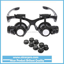 New Updating Loupe 10x 15x 20x 25x Watch Repair Glasses Style Magnifier Eyewear Magnifier