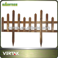 Wooden fence for garden