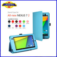 2013 New Product Colorful Tablet Case for Nexus 7 7 inch Leather Case Laudtec