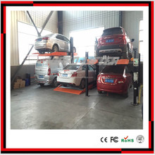 Simple vertical four post carparking lift /car maintenance and parking equipment