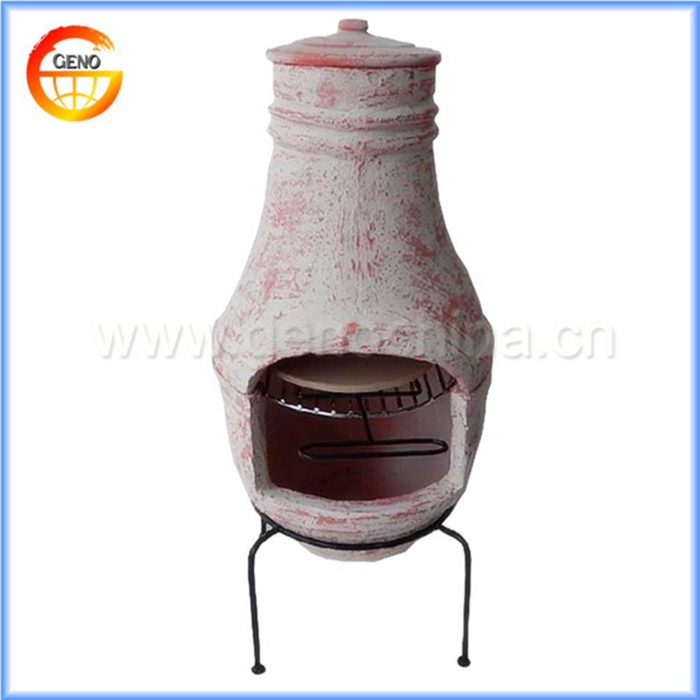 outdoor terracotta chiminea for garden decor