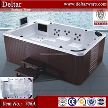 12 person hot tubs ,Foshan ozone bubble bathtubs, swimming pool big dimention size outdoor spa