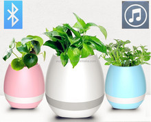 2017 magic music flower pot LED with bluetooth Play Piano on a Real Plant