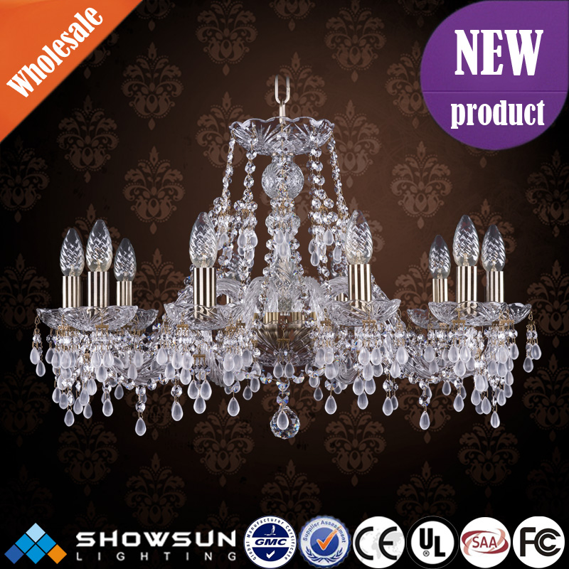 Modern UL decorative bohemia crystal chandeliers lighting factory