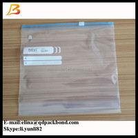 Colored printed plastic zip lock slider storage bag, slider freezer bags