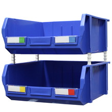 Plastic big storage stacking and hang bin box for warehouse racking and wire shelving