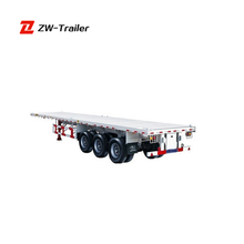 Wholesale Chinese ZF Brand Container Trailer Tri-axles Flatbed Trailer