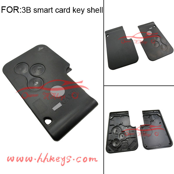 Original Renault laguna Smart key card cover 3 Buttons Smart Remote car key no chip and blade