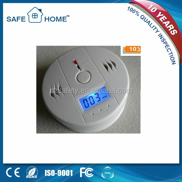 Well-Received Intelligent LCD Carbon Monoxide Co Gas Detector Security Alarm