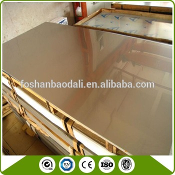 Raw material list mirror polished stainless steel sheet price